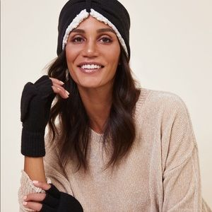 Bearpaw | Sherpa Headband & Pop Top Gloves